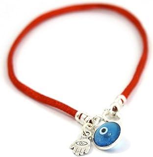 comprar comparacion Pulsera de cadena con amuleto con la mano de Fátima, para proteger contra el mal de ojo, cadena de plata para hombres, 20cm.