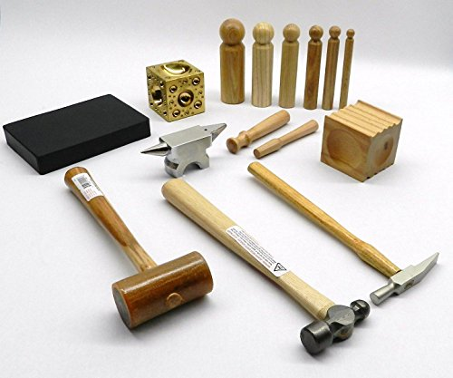 METALSMITH TOOL KIT BASIC BLOCKS HAMMERS METAL SMITHING JEWELRY MAKING TOOLS SET (LZ 7.5 R BOX A)...