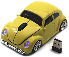 Ai5G for VW Car Mouse Wireless Mouse Laptop Desktop Computer Mice with 2.4GHz USB Receiver LED Headlight (Yellow)
