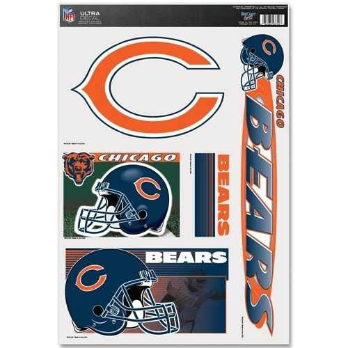WinCraft NFL Chicago Bears 03749051 Multi Use Decal, 11
