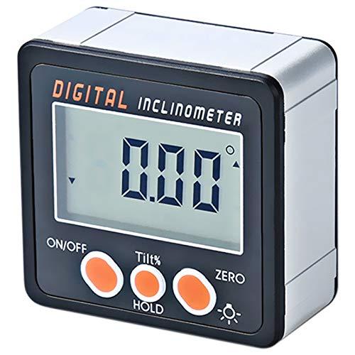 SODIAL Digital Neigungssensor 0-360 Winkel Dreieck Lineal Elektronische Winkelmesser Aluminiumlegierung Schale Box Winkel Gauge Messger?t Magneten Basis