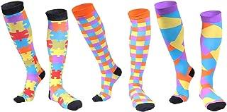 (3 Pairs) Longwu Compression Socks Men & Women (20-30 mmHg)