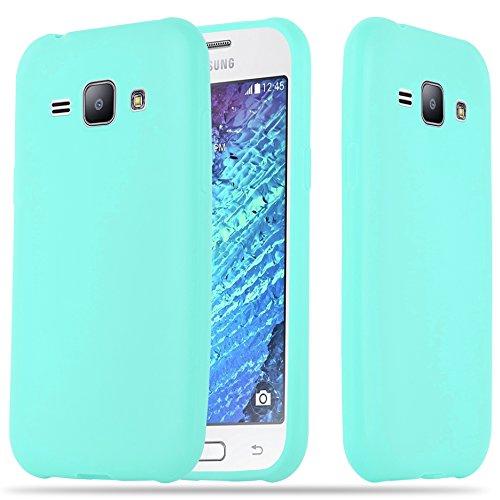 Cadorabo Funda para Samsung Galaxy J1 2015 en Candy Azul - Cubierta Proteccíon de Silicona TPU Delgada e Flexible con Antichoque - Gel Case Cover Carcasa Ligera