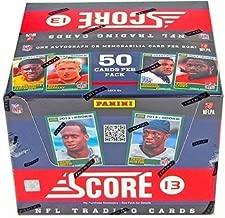 2013 Score JUMBO Football box (10 pk, 2 autographs + 1 auto or mem card)
