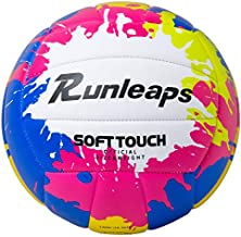 Beach Volleyball Official Size 5 - Runleaps Soft Waterproof Volleyball Sand Sports PU Ball for Indoor, Outdoor, Pool, Gym, Training