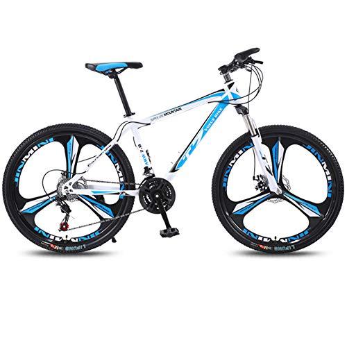 Bicicletta Mountain Bike, 24 Pollici Freni A Disco Mountainbike, Front Suspension Mountain Bike, Adulti Bambini Leggero Biciclette,21 Speed, Adulto Adolescenti Alunno Leggero Vai A Lavorare(B)