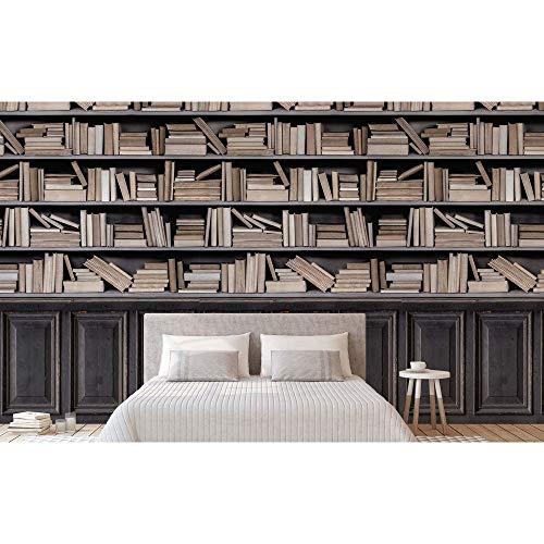 Grandeco Bücherwand Wandbild Fototapete A36801