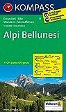 Carta escursionistica n. 77. Alpi Bellunesi, 1:50.000: Wandelkaart 1:50 000