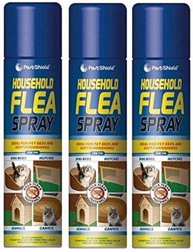 3 X 200 ml hogar asesino de pulgas spray para gato perro cama alfombra suave muebles cama