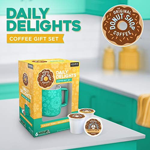 The Original Donut Shop Daily Delights Gift Set, Single Serve Keurig K-Cup Pods, Variety Pack, 6 Count