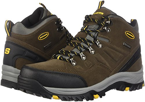 Skechers Men's Relment Pelmo Hiking Boot, khk, 10.5 Wide