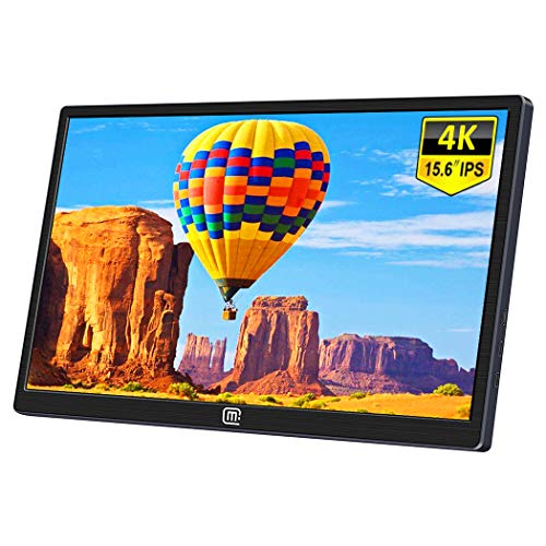 15.6 Inch 4K Portable Monitor,Eleduino 3840×2160 UHD IPS USB C Mobile Display Gaming Monitor with Type-C Mini HDMI for Laptop PC MAC Phone Xbox PS4 Nintendo Switch