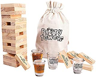 MyMealivos Party Drunken Tower The Grab A Piece Drinking Game with Carrying case