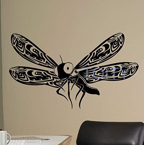 jiushivr Libelle Schmetterling Vinyl Wall Decal schöne Natur Vinyl Aufkleber Insekten Home Interior Decor Art Murals Childr 114x192cm