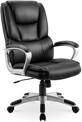 Leder Chef Stuhl Computer Stuhl, 360 ° Drehung Plus Handlauf, kann angehoben und abgesenkt Werden, für Arbeitszimmer Büro verwendet