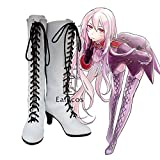BELUNOT Anime APH Axis Powers Hetalia Prussia Julchen Beillschmidt Cosplay Party Shoes White Boots Custom Made 36