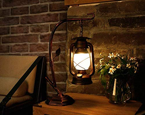 Creatieve Chinese ijzeren bureaulamp Amerikaanse landelijke kerosinlamp lantaarn lantaarn café-restaurant