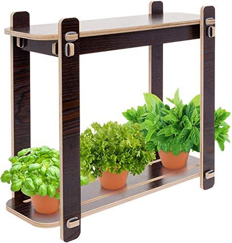 Mindful Design Wood Finish LED Indoor Garden - Grow Herbs, Succulents,Vegetables