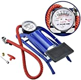 BLUECORP® ENTERPRISE Portable High Pressure Foot Pump/Air Tyre Inflator/Pump Compressor for Bike/Cycles