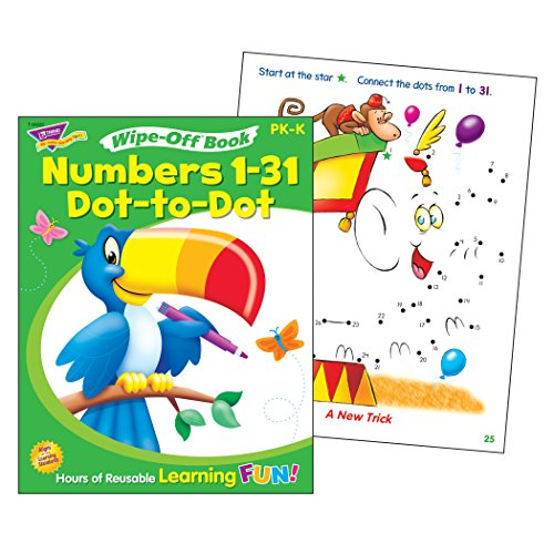 Trend Enterprises Numbers 1 31 Dot To Dot Wipe Off Book