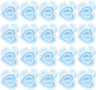 Beaupretty Lijm Houder 100Pcs Tattoo Pigment Ringen Smart Lijm Cups Voor Voor Wimper Extension
