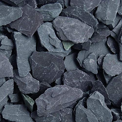 Blue Slate Decorative Aggregates Slate Chippings Garden Gravel 40mm 20 Kg