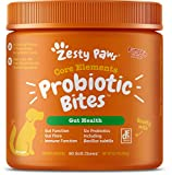 Zesty Paws Probiotic for Dogs - with Natural Digestive Enzymes + Prebiotics & Pumpkin - Dog Probiotics for Diarrhea & Upset Stomach Relief + Gas & Constipation - Allergy & Immune + Hot Spot - 90 Count