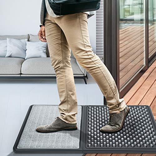 TTLIFE - Alfombrilla desinfectante para el suelo, multifuncional, para limpieza de zapatos, para desinfección, absorción de agua y eliminación de polvo, para casa, escuela, oficina (gris oscuro)