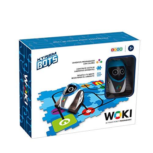 Xtrem Bots - Woki, Juguete Robot Niño Educativo, Robots Juguetes Educativos Programable por Colores, Juego Robotica para Niños, Desarrollo Habilidades Stem