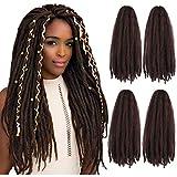 Marley Twist Crochet Hair Braids Kinky Passion Twists Curly Hair Cuban Braiding Kanekalon Bomb Crochet Hair Extensions