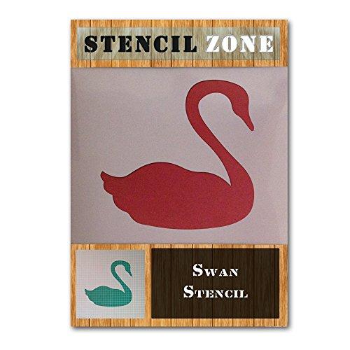 Schwan-Vogel Schwimmen Tier Mylar Airbrush Painting Wall Art Schablone Zwei (A6 Größe Stencil - XXSmall)