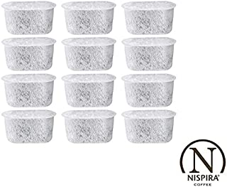 12 NISPIRA Replacement Activated Charcoal Water Filters for Coffee Machines, Compared to Cuisinart DCC-RWF