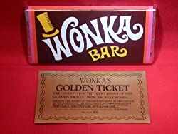 Willy Wonka Chocolate Bar with Golden Ticket