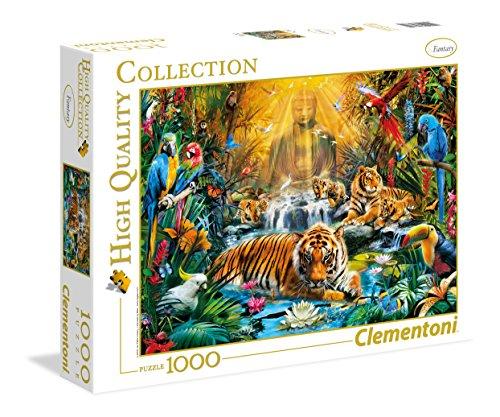 Clementoni 39380 Geheimnisvolle Tiger – Puzzle 1000 Teile, Geschicklichkeitsspiel für die ganze Familie, Erwachsenenpuzzle ab 14 Jahren, als Weihnachtsgeschenk für Jungen & Mädchen