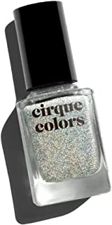 Cirque Colors Facets Collection - Holographic Jelly Nail Polish - Crushed Ice - Silver - 0.37 fl. oz. (11 ml) - Vegan, Cruelty-Free, Non-Toxic Formula