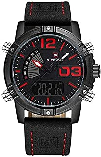 Naviforce Sport Watch For Men Analog-Digital Leather - NF9095-RD