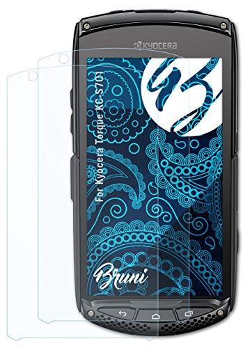 Bruni Schutzfolie kompatibel mit Kyocera Torque KC-S701 Folie, glasklare Bildschirmschutzfolie (2X)