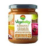 Vegebaby - Potito de fruta para bebé (Plátano, pera y granada) 8 x 190 g