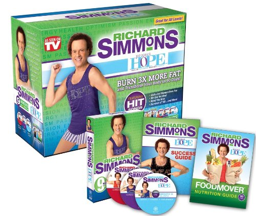 As Seen On TV Richard Simmons Project H.O.P.E. Home Workout System DVD
