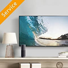 Installation of 1 customer-supplied TV mounting bracket Securing the TV and load testing the hardware Your expert will help you control your TV from your smart phone and can provide app recommendations to stream your favorite programs TV mounting is ...