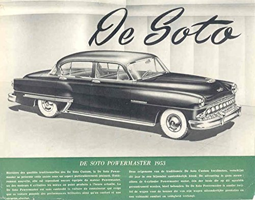 1953 DeSoto Powermaster 6 Brochure Export Belgium Dutch