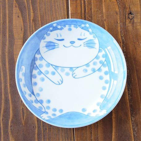 Minorutouki Mino-yaki Mini-Assiette Chat à Pois du Japon 755678