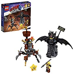 Build the poseable MetalBeard mech, with a built-in LEGO MetalBeard minifigure head, opening treasure chest and flip-down crow's nest and Batman's throne and battle against Star Batman throne features a minifigure seat and an adjustable 'You're Welco...