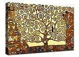 Canvashop Quadri Moderni Soggiorno XXL Albero della Vita 100x70 cm Klimt Quadro su Tela