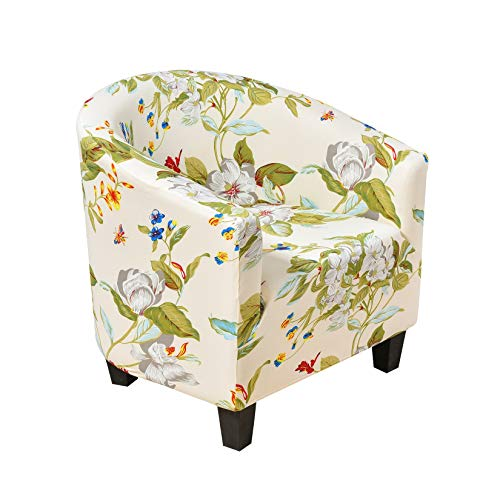 Facai Stretch Sesselbezug für Cocktailsessel Clubsessel, Weich Elastisch Sesselschoner für Loungesessel, Gedruckt Sesselhusse Waschbarer Sesselbezüge #5