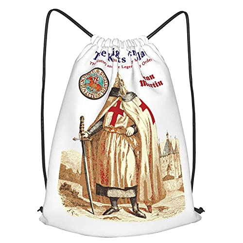 VJSDIUD Sac de voyage Knights Templar Drawstring Backpack Dance Drawstring Strap Pack For Women Men