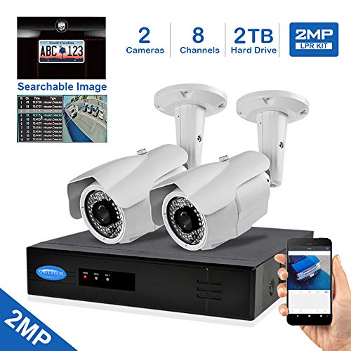For Sale! OwlTech Searchable License Plate Recognition IP Camera Kit with 4K 8CH 8MP NVR, 2T HDD, 2X...