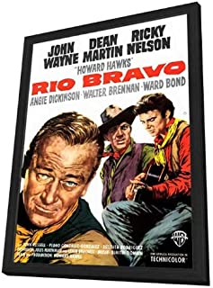 Rio Bravo 27 x 40 Movie Poster - Style A - in Deluxe Wood Frame