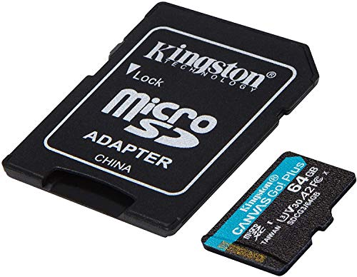 Kingston GO! Plus Works for DJI Matrice 200 Series 64GB MicroSDXC Canvas Card Verified by SanFlash. (170MBs Works with Kingston)