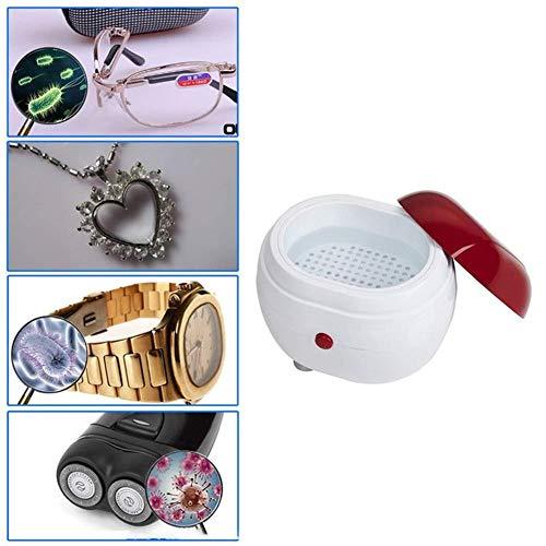 Ultraschallreiniger Reinigungsgerät Ultraschallreinigungsgerät Tragbarer Mini-ultraschallwaschmaschine Schmuckreiniger Ultraschall Für Brillen Schmuck Uhren Gebisse Gläser Münzen, 5oz / 150ml
